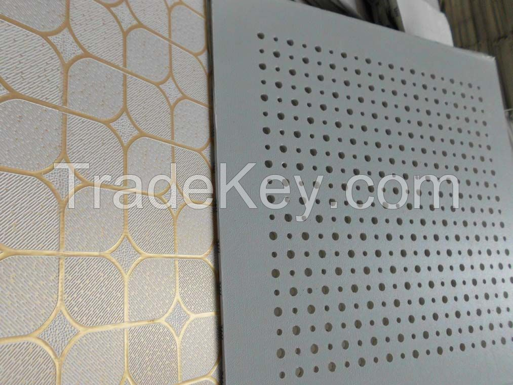 Dry wall partition pvc gypsum tile
