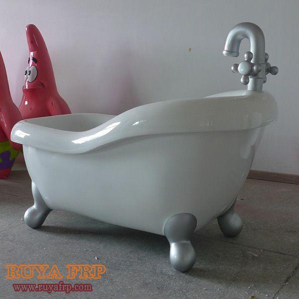 Fiberglass bathtub, customized FRP washtub