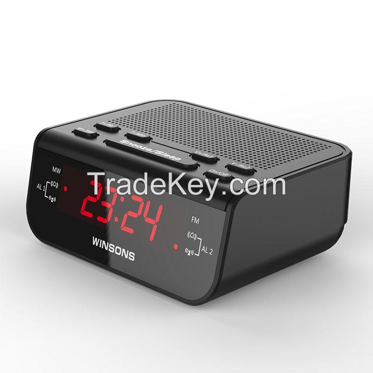 home digital AM/FM led alarm clock radio receiver