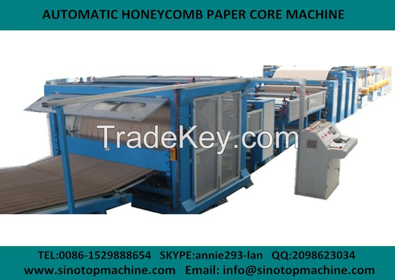 automatic honeycomb core and cardboard laminator machine