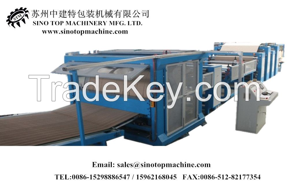 automatic honeycomb core and cardboard laminator machine