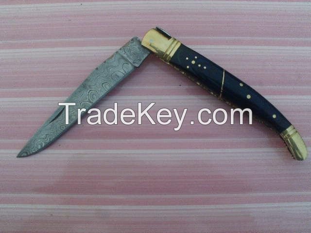 FBD! Custom Hand Made Damascus Folding Knife