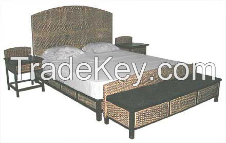 Rattan and Hyacinth Bed