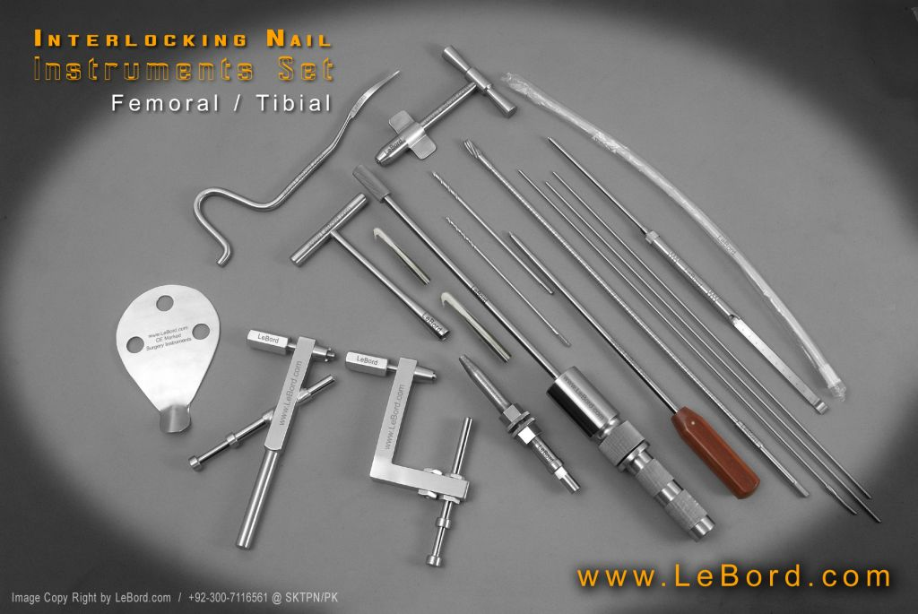 Surgical Intermedullary Nail Instruments Set