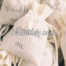 Wholesale Imprint Customized Natural Vietnam cotton drawstring bags