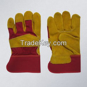 Cheap Genuine Cow Split Leather Working Gloves also goatskin working gloves and deerskin working gloves available