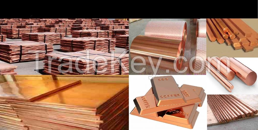 Excellent Quality Copper Cathode , Copper Pipes, Copper Bars, Copper Wire, Copper Sheets, Copper Powder