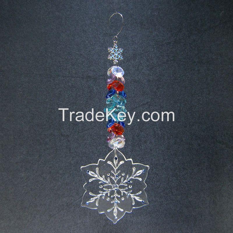 Snowflake Crystal Pendant Suncatcher Ornaments for Home Decor