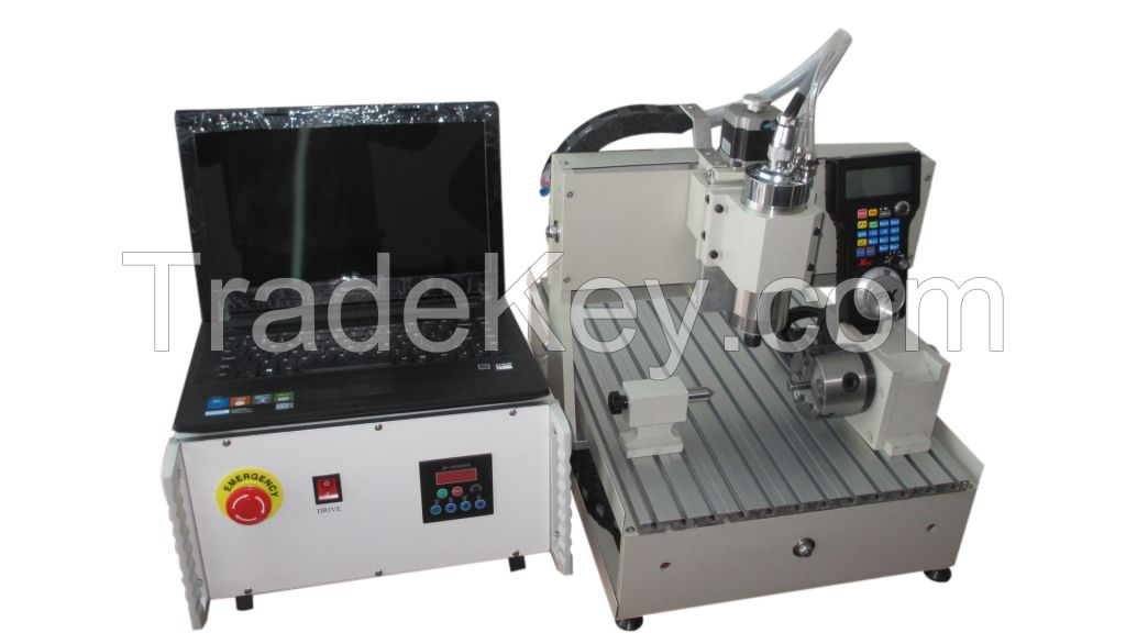 Mini CNC engraving machine 800W, 3040 with 4 axis