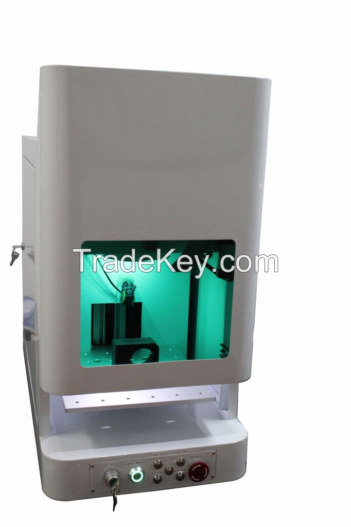 New model fiber laser metal engraving machine with rotary device for bird ring/piegon ring