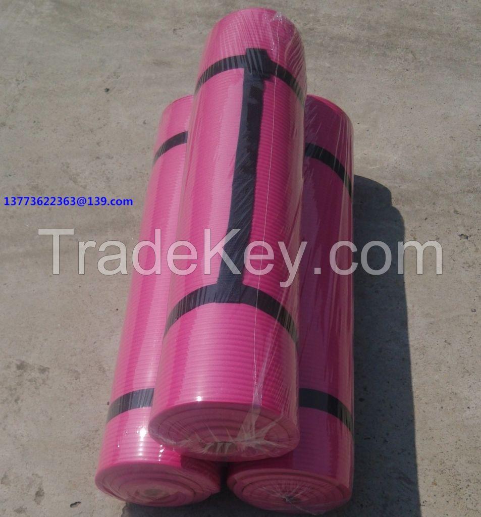 Pink Anti-Slip NBR Yoga Mat