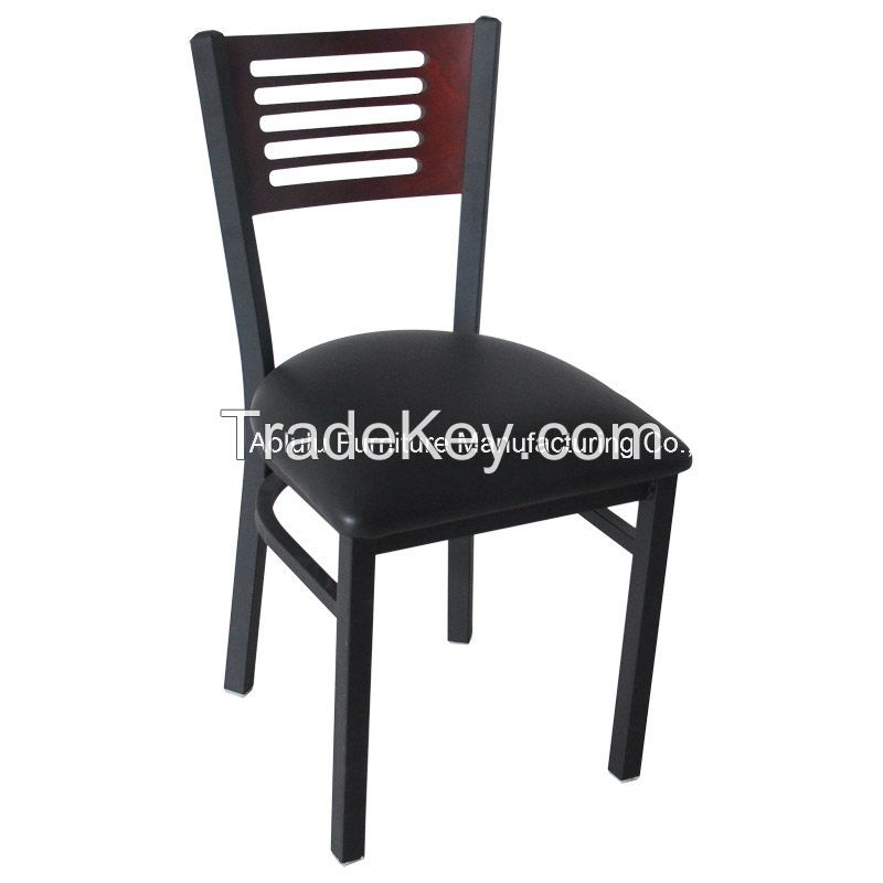 Restaurant Furniture Metal Chair with Wood Back (ALL-209)