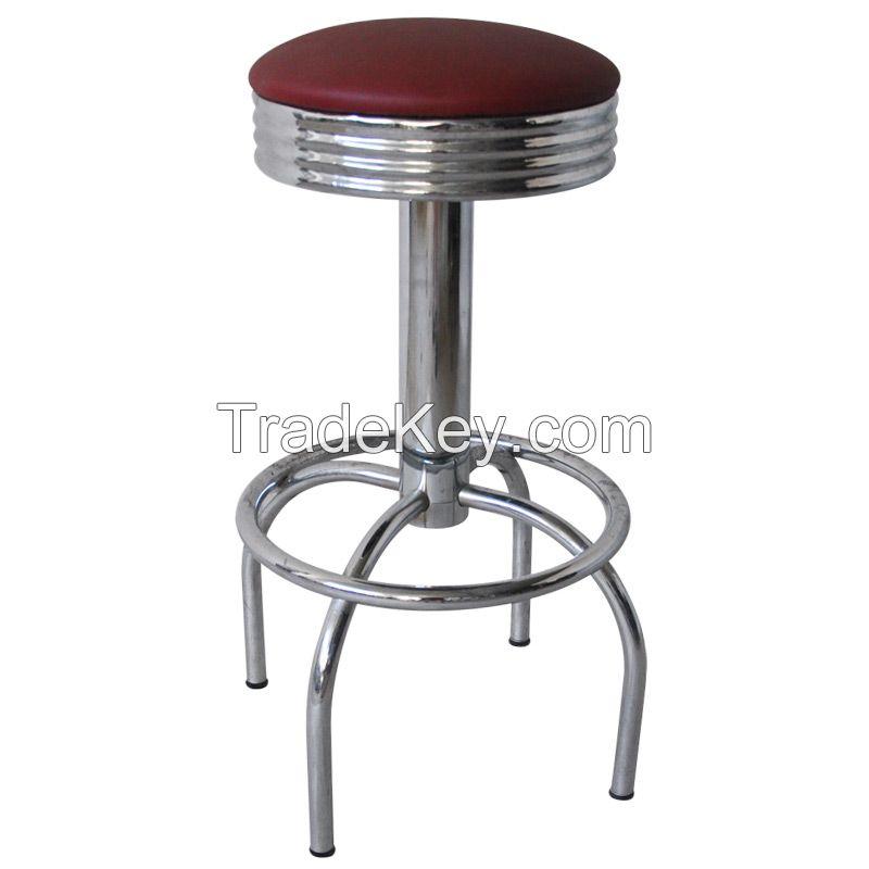 Swivel Chrome  Metal Frame chair  Bar stool