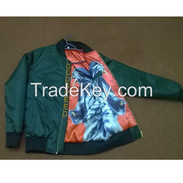 Custom made bomber varsity jackets with embroidery logo