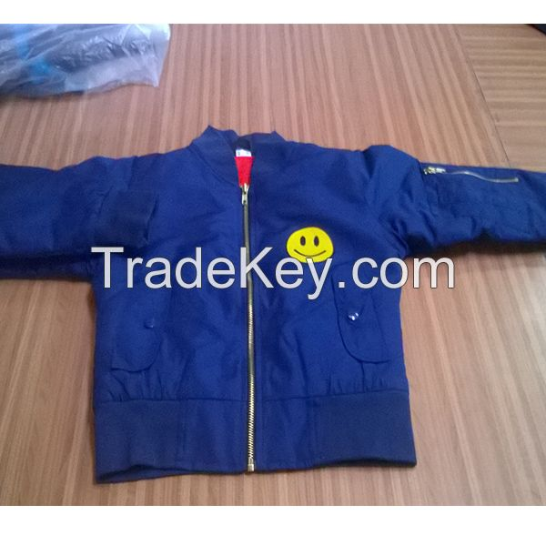 Ladies short body bomber jackets