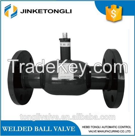 High quality Double flange full welded ball valve