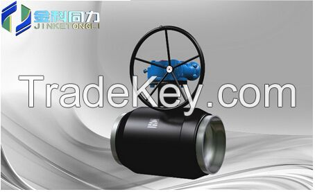 300lb Forged Steel all welded ball valve gear box