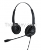 Noise-cancelling call center headset