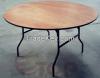 Wood Folding Round Table