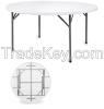 HDPE plastic round folding table