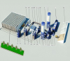 Dual-core and dual line parallel fully automatic block production line