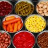 Canned Tomatos, Canned Mixed Vegetables, Canned Corn, Canned Beans, Canned Mushroom, canned peas
