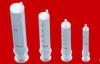 Disposable syringe 2 parts