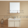 White Vanity Set Aluminum Storage Cabinet Wall Mounted with Two doors: ASM-AV001