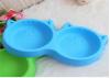 Silicone cat face pet bowl