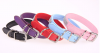 PU leather dog collar belt type with adjustable buckle