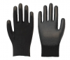 PU-13G black polyester linerp, black PU coated woking glove