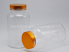 100g Plastic PET Medicine Capsule Bottle With Metallic Cap