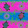 Dolphin Batik Design Cotton and Rayon