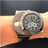 wholesale Men's Original Electric Cigarette Lighter USB Rechargeable Flameless Windproof with Wrist Watch