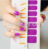 Wholese purple nail art sticker shining nail wrap manufacturer