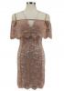 American Women's wear Party dresses Miss Shoulder Strap Dress Lace Dress