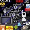 Alarm Home Security Cameras System DIY IP Surveillance WIFI Farm Remote View