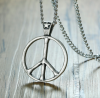 Stainless Steel Peace Pendant Necklace