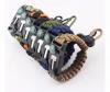 Custom mental logo adjustable survival Paracord Bracelet for friendship bracelet men charms