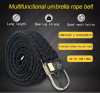 New Fashion Man Tactics Emergency 550 paracord  belt -survival kit with compass, fish tool