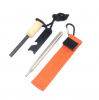 Outdoor Camping Gear Fire Starter with Scraper and Whistle, 2020 New Arrival Product Fire Starter Flint Set