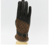 Men's Peacock Pattern Leather Gloves Sheepskins