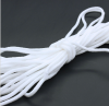 White Round Spandex polyester material Elastic Cord with for Elastic Ear Loop Band