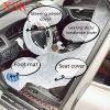 Disposable car seat cover set 5 in 1 steering wheel/handbrake/foot mat