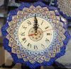 Persian Handicraft Clock Mina ENAMEL Plate