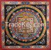 Nepal Handmade Kalachakra Mandala with Dragon Border Mandala