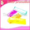 [Dollar promotion] 2016Cute Candy color pvc transparent stationery case kawaii pencil case for girls cosmetic bag school gift