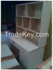 Solid Wood Desk with Bookshelf