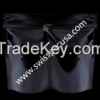 1OZ / 30G BLACK (SUP) STAND UP POUCH WITH ZIPPER