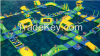 Factory price Rental Inflatable water park near sea aquatic parks for commercial